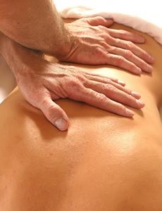 woman back getting a massage