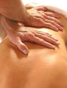 woman back getting a massage